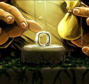 treasure hunter getting ring